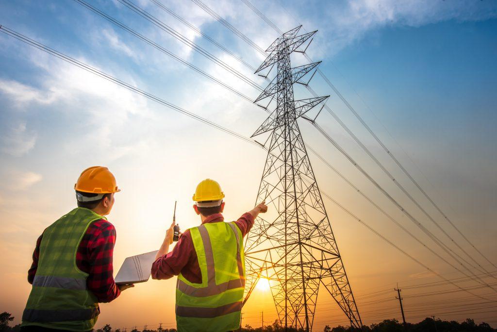 Photo of telephone line repairmen