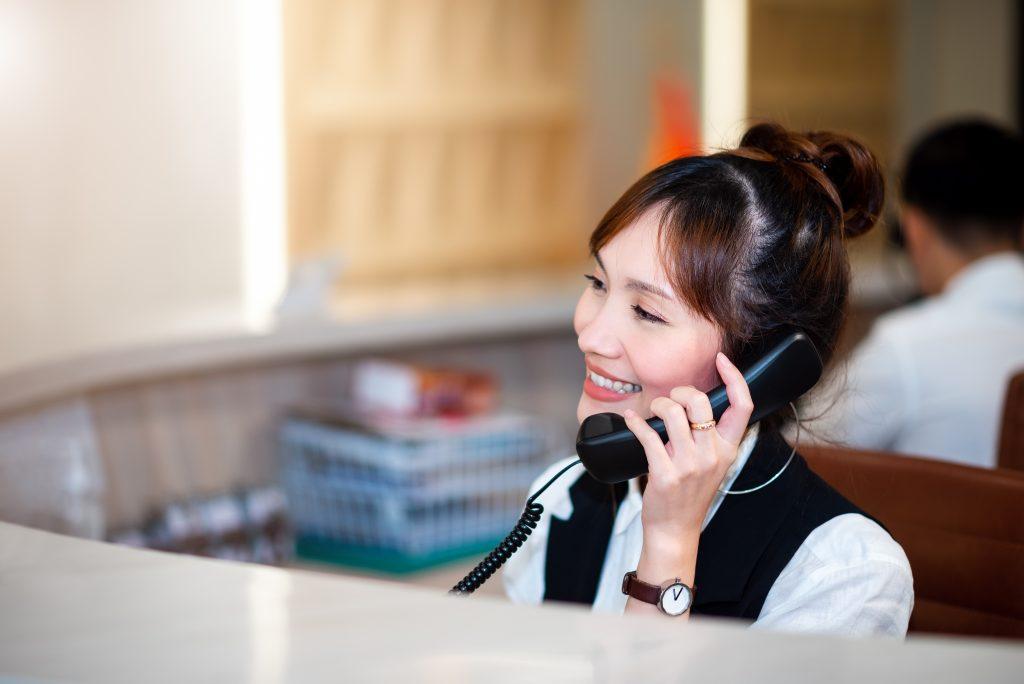 Photo of phone operator